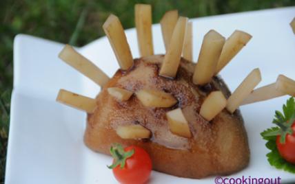 Quand le hérisson passe à table c'est poire ET fromage ! - Photo par Cookingout