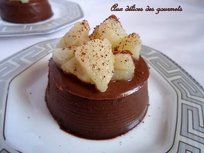 Panna cotta au chocolat et aux poires - Photo par fimere2