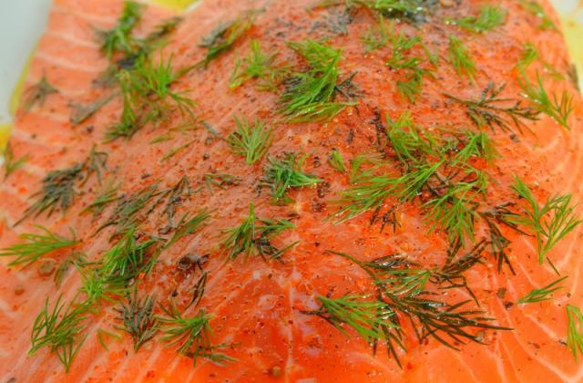 Saumon mariné Blinis - Photo par 750g