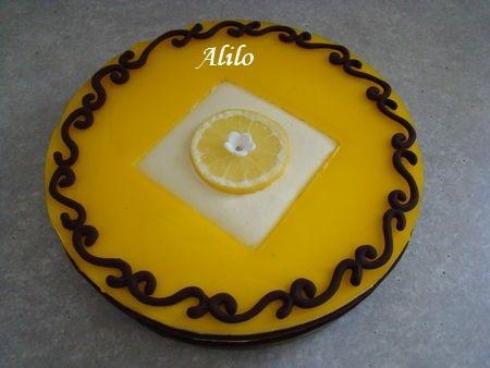 Bavarois au lemon curd et gélifié de citron sur palmiers - Photo par Les Gâteaux Magiques d'Alilo