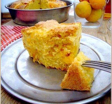 Cake abricot amaretto - Photo par sucre_en_poudre