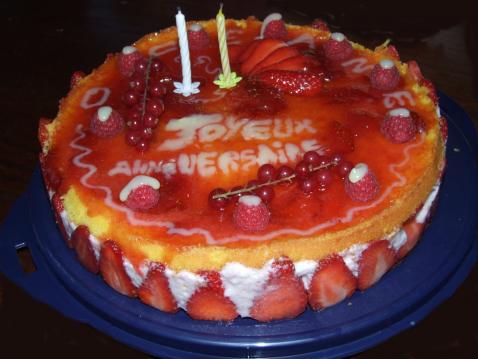 Entremet fraises-framboises - Photo par cbidau