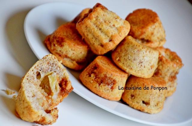 Petit moelleux à la banane et caramel au beurre salé - Photo par Ponpon