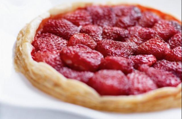 Tarte gourmande aux fraises et poudre d'amande - Photo par StMamet