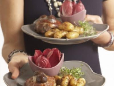 Galantine de dinde aux marrons et ses Ratte du Touquet aux quatre épices - Photo par colinef