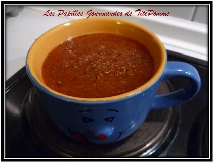 Soupe à la tomate inratable - Photo par TitePomme