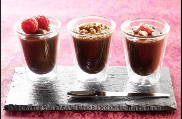 3 petits pots de crème au chocolat - Photo par Cedus Le sucre
