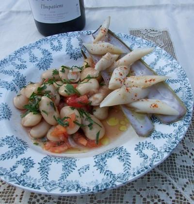 Salade de haricot de Soissons et couteaux - Photo par Chef Damien