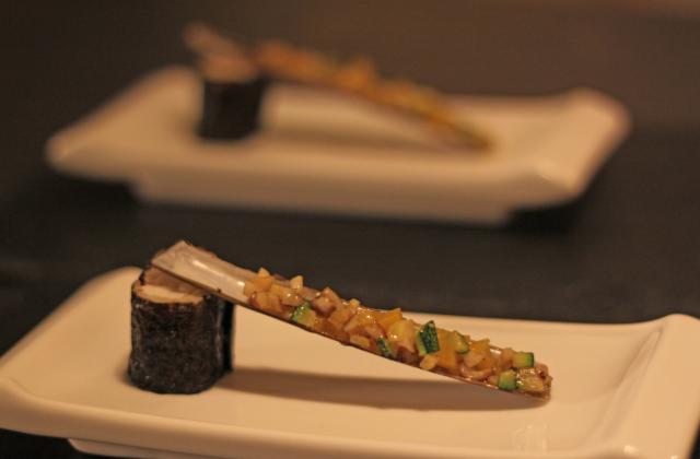 Makis de langoustine à couteau tiré - Photo par Marie-Laure du blog : Ça sent beau dans la cuisine