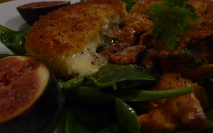 Croccante de Saint Marcellin et salade d'automne - Photo par jcbend
