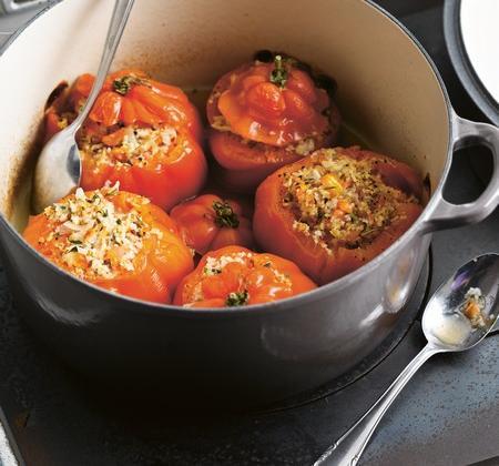 Tomates cœur de bœuf farcies au crabe - Photo par Le Creuset