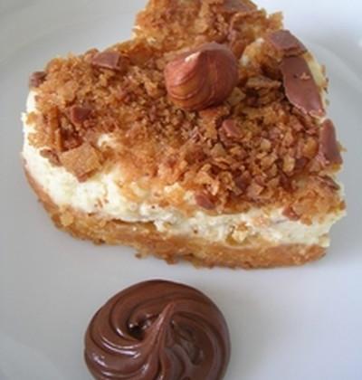 Mousse de noisettes et mirabelles pochées au sirop d'érable sur sablé à la vanille - Photo par Lapin cuisinier