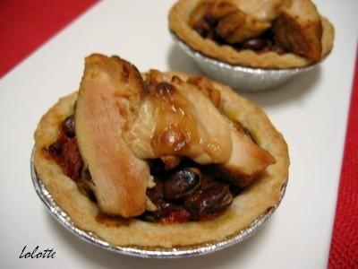 Mini tartelettes épicées au poulet « chili style » - Photo par lolottf