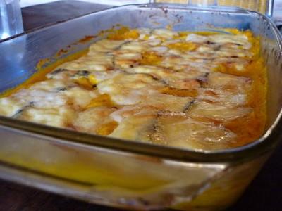 Gratin de potimarron au morbier et graines de tournesol - Photo par judithpK