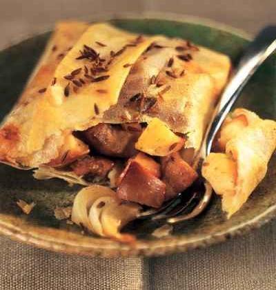 Pastillas de rognons de porc, pomme et cumin - Photo par 750g