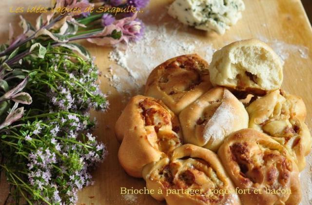 Brioche à partager au roquefort et au bacon - Photo par Snapulk