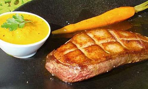 Mousseline de carottes au curcuma - Photo par Parfums de table