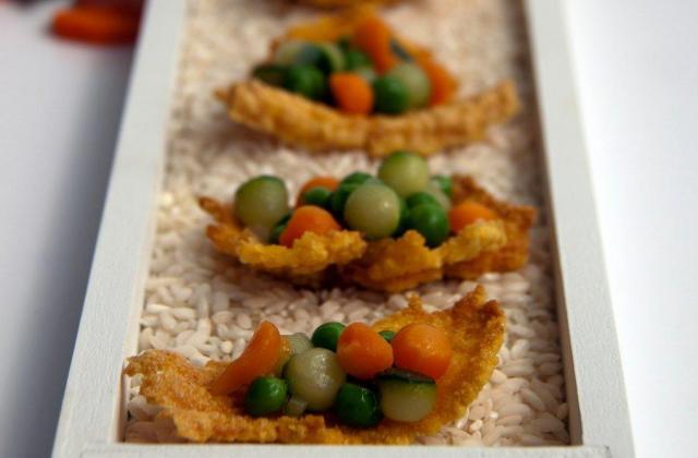 Chips de risotto aux petits légumes - Photo par BlogGourmandine