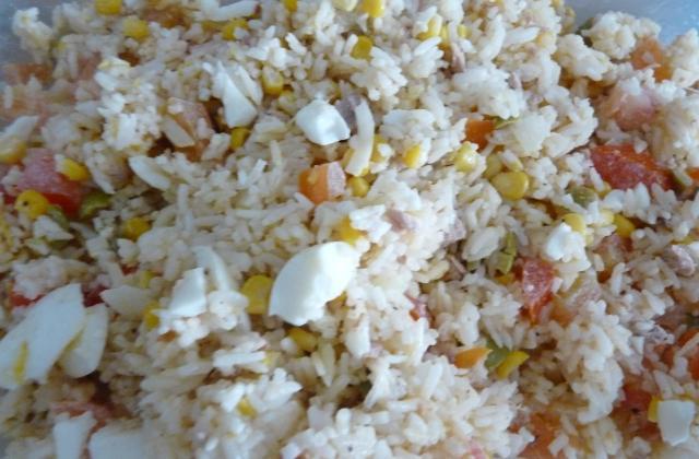 Salade de riz au thon économique - Photo par oriane tictac