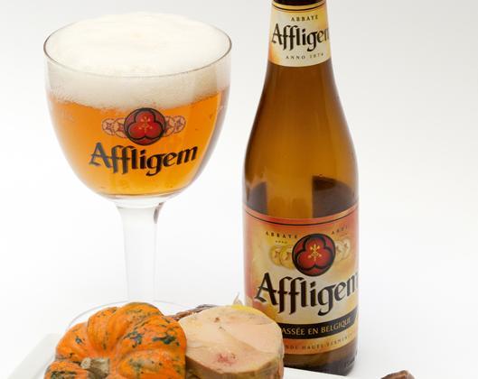 Perdrix Embeurrée de choux à la bière Affligem, Foie gras et cèpes - Photo par Tendances Bière