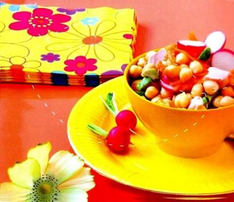 Salade saumon et pois chiche - Photo par marielKCM