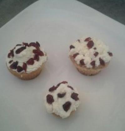 Cupcakes à la pâte d'arachide et aux cranberries - Photo par dalyz