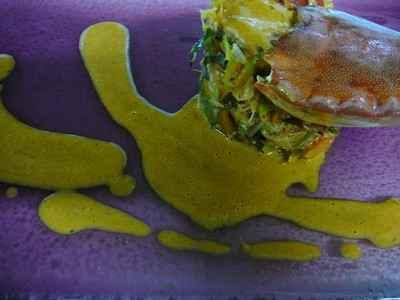 Tourteau farci à la julienne de légumes et son jus de crustacés - Photo par 750g