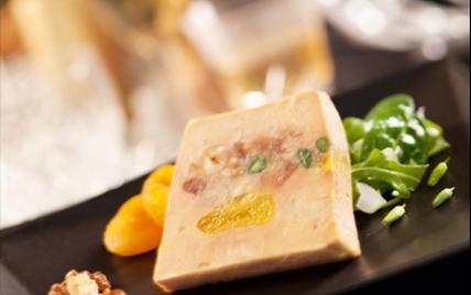 Terrine de foie gras façon mendiant - Photo par Labeyrie