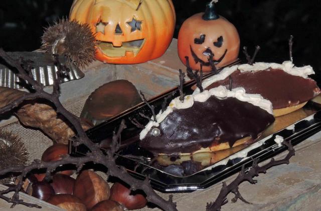 Comme des Dragons de  nuit - Barquettes de châtaignes aux 2 chocolats : L'ENFER ! - Photo par mandoz