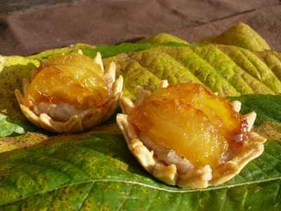 Tartelettes à la confiture de châtaignes et aux pommes caramélisées - Photo par agastache29