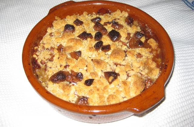 Crumble au chocolat original - Photo par maman patou