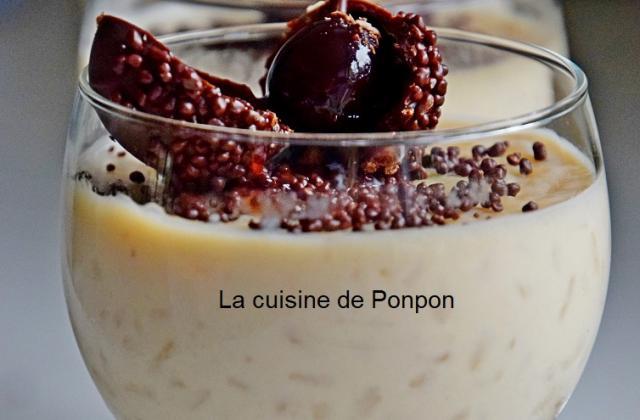 Riz au lait à la purée de marrons - Photo par Ponpon