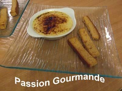 Crème brulée au Foie Gras et mouillettes pain d'épices - Photo par passiongourmande
