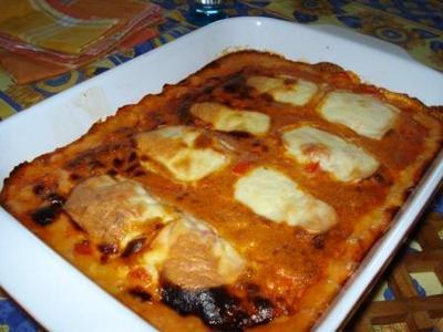 Gratin d'escalope poivron mozzarella - Photo par charle3