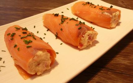 Cannelloni de saumon fumé à la ricotta et aux poivrons rouges - Photo par arnold5