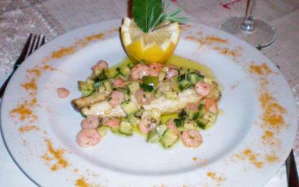 Filets de bar aux crevettes et courgettes ..... - Photo par delice.delire