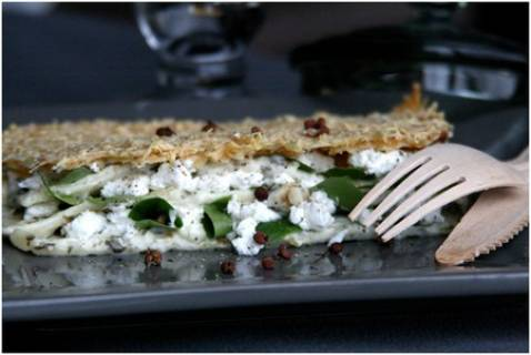 Lasagnes au chèvre frais et aux épinards - Photo par Ma boîte à diners