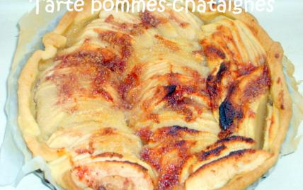 Tarte aux pommes-châtaignes - Photo par adelinaK
