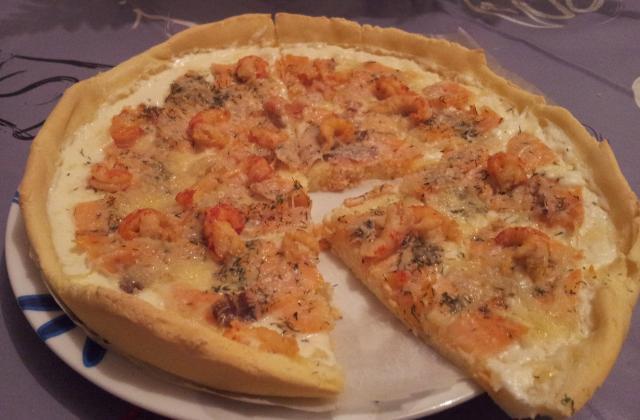 Pizza sans gluten saumon écrevisses - Photo par lesptitesrecettesdeceline