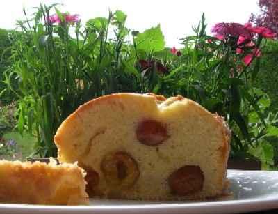 Cake aux Mirabelles (sans produit laitier) - Photo par tdorot