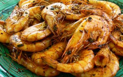Crevettes sautées au Ponzu à la plancha - Photo par audreycuisine