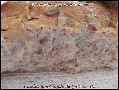 Pain complet aux graines de tournesol - Photo par Carmen