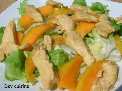 Salade tiède sucrée-salée de poulet et mangue - Photo par DeyCuisine