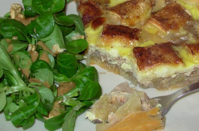 Tarte aux pommes, camembert et 4-épices - Photo par paulinc7