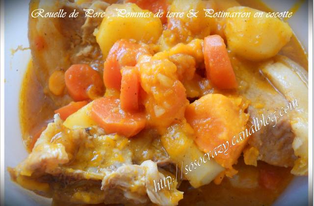 Rouelle de porc, pommes de terre et potimarron en cocotte - Photo par Clomax