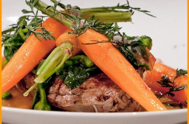 Boeuf de Charolles électrique version boeuf carottes - Photo par Chef Damien
