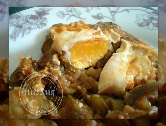 Tajine de courgette aux oeufs - Photo par amour de cuisine