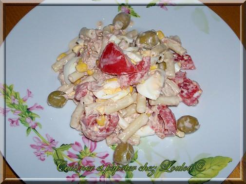 Salade de pâtes au thon mayonnaise - Photo par Louloucuisine