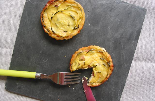 Tartelettes 'tatin' de courgettes au jambon de Vendée - Photo par chutca