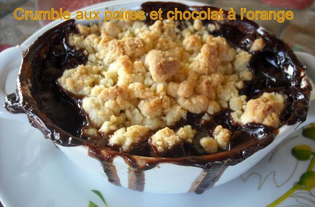 Crumble aux poires et chocolat - Photo par Lunathan